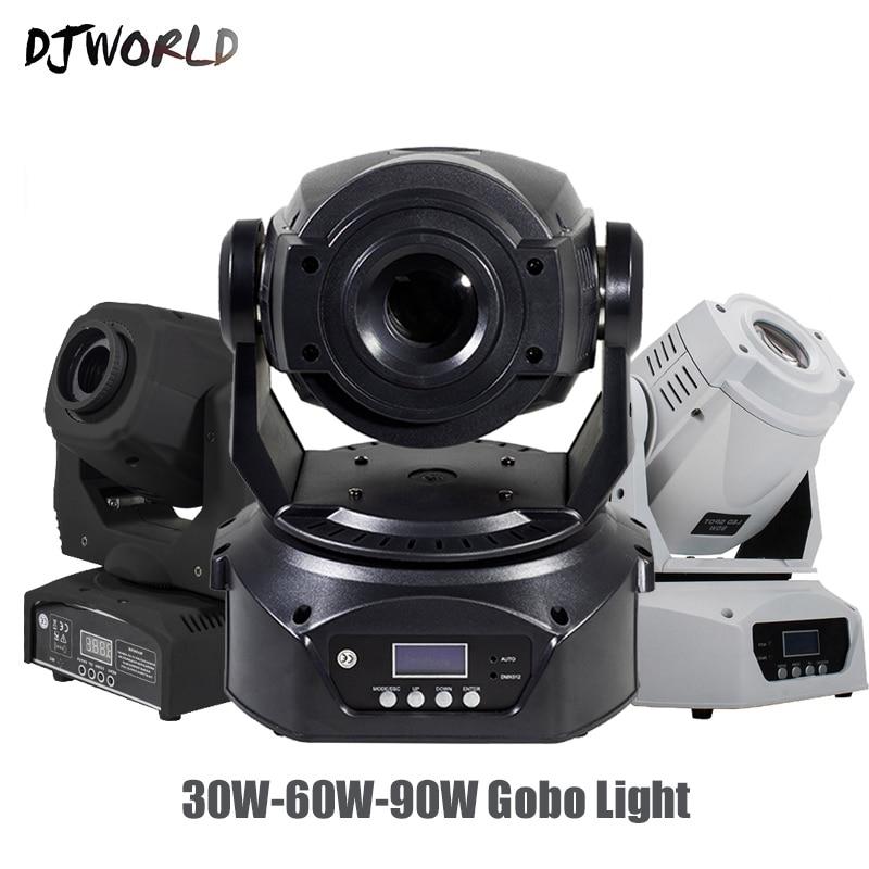 Djworld LED 30W/60W90W Spot Moving Head Lighting 6 Prisms DMX Control Gobo Strobe Lamp For Disco Dj Party Stage Lights Equipment