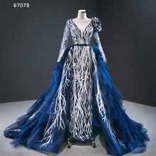 J67079 JANCEMBER formelle халат 3D большой кружевной аппликацией блестящие хрустальные пояса О образным вырезом рюшами с открытой спиной с длинным рукавом vestidos de fiesta