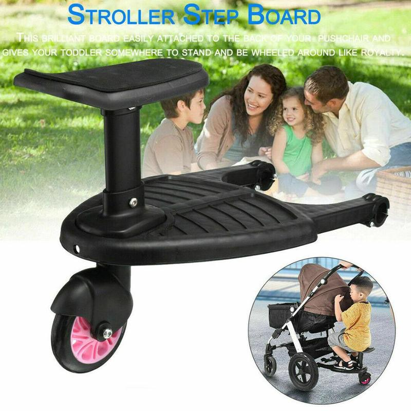 Baby Stroller with Seat Kids Child Pram Wheel Standing Board Pedal  Pedal Adapter Child Auxiliary Trailer Twins Scooter