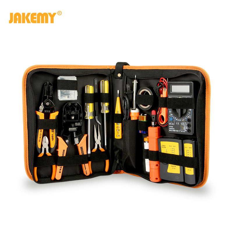 17 In 1 Hand Tool Set Electronic Maintenance Repair Tools Kit Electric Soldering Iron Kit Pliers Tweezers Digital Multimeter Set