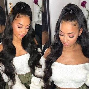 Brazilian Body Wave Lace Wigs perruque humain boucl Long Lace Front Human Hair Wigs Three Part Human Hair Girls Wigs(China)