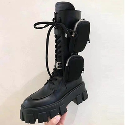 Winter New Women Casual Boots Fashion Warm Boots Top Quality Genuine Leather Platform Military Boots Martin Boots Military Boots