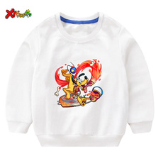 Boys Sweatshirts Kids Animals Dog Sweatshirt Cartoon Children Girls Tops Pullover Hoodies 2 3 4 5 Years