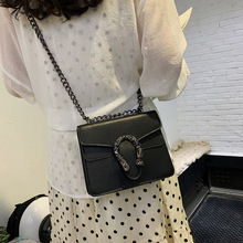 Bacchus Bag Female New Fashion Foreign Small Texture Wild Chain Shoulder Tiger Head Net Red Square