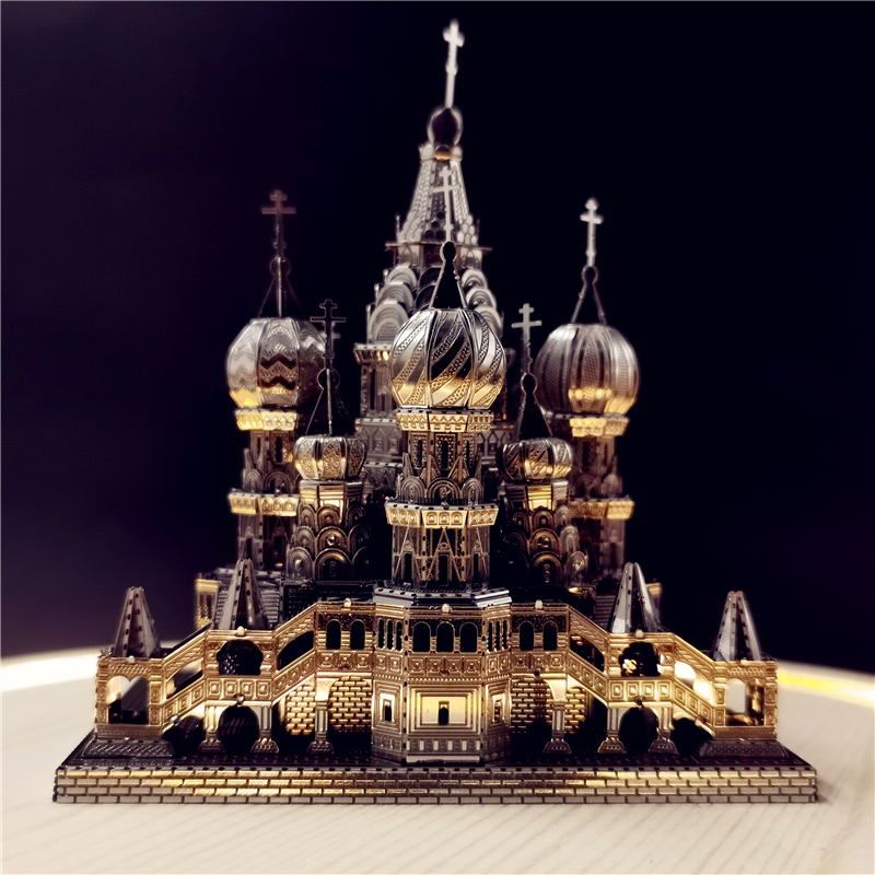 IRON STAR 3D Metal Puzzle Saint Basil's Cathedral Model Assembly Model DIY 3D Laser Cut Model Puzzle Toys For Adult
