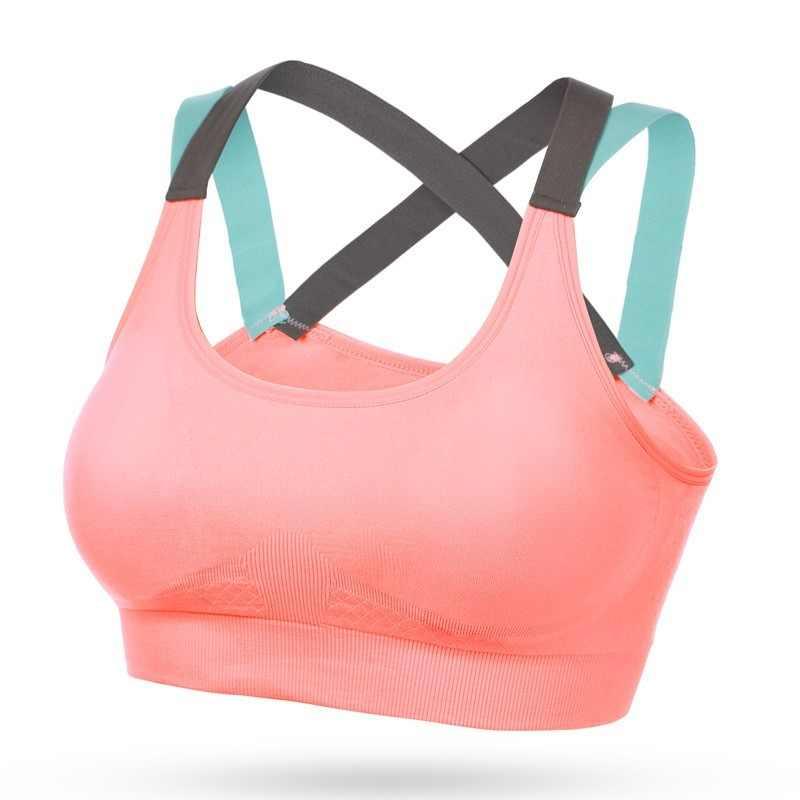 Sport Bh X Terug Stiksels Kleur Snel Droog Fitness Top Naadloze Sportbeha Gym Beha Sport Wear voor Vrouwen Gym running Vest