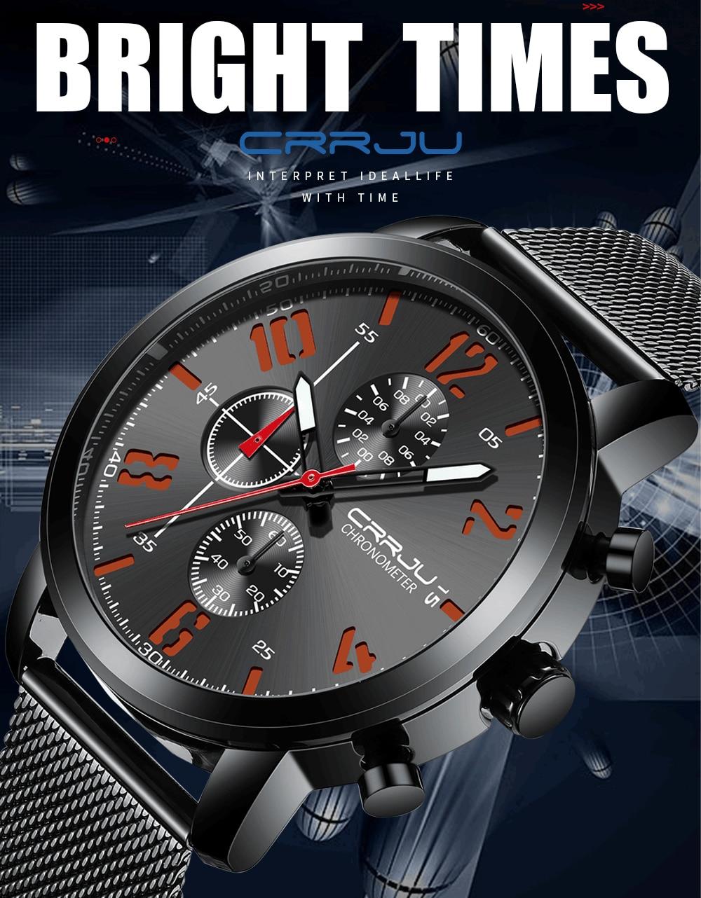 marca negócios quartzo relógio masculino casual malha