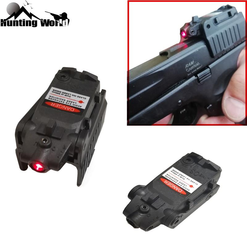Тактический красный лазерный прицел, красный точечный задний прицел для охоты, страйкбола, Glock 17 19 22 23 25 26 27 28 31 32 33 34 35 37 38