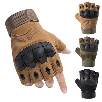 Outdoor Tactical Fingerless Gloves Military Army Shooting Hiking Hunting Climbing Cycling Gym Riding Airsoft Half Finger Gloves outdoor cycling riding half finger gloves blue pair size xl