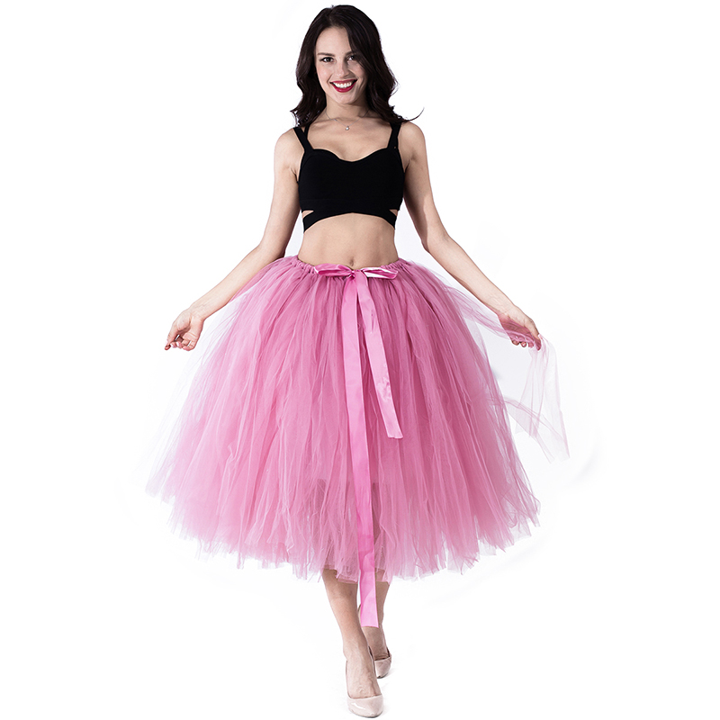Amazon Hot TUTU Skirt Stage Skirts Bud Silk Yarn Fresh Style Solid Color Princess A Word Skirt Show Photo Pettiskirt Tulle Skirt