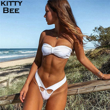Bandeau Bikini 2019 Swimwear Women Micro Push Up Bathing Suit Swimsuit Strapless Brazilian Swimming