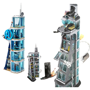 New Super Heroes Avenger Tower Battle Fit Infinity StarWars Spider Iron mans Building Block Bricks Toys Christmas Gift