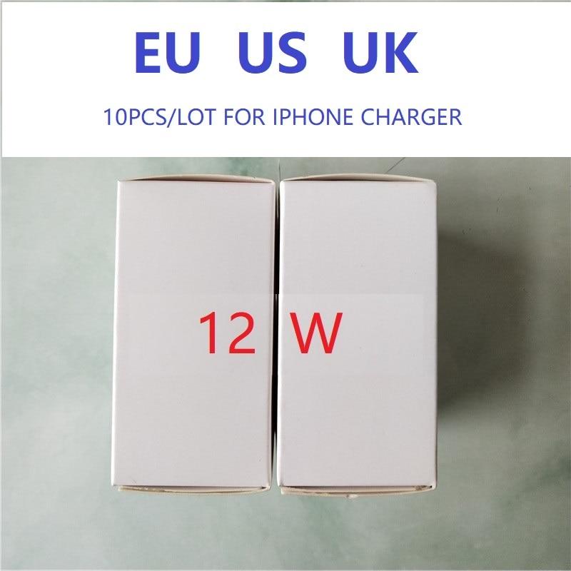 10pcs/lot Original Oem 12W US AU UK EU Plug AC Fast Charging Wall Charger Usb Power Adapter 5.2v 2.4A Retail Box With Logo
