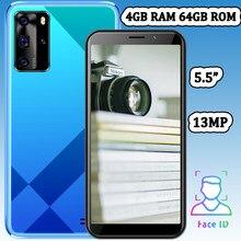 Câmera frontal/traseira z10 desbloqueado quad core 4g ram 64g rom 5.5 polegada 5mp + 13mp smartphones telefones celulares face id wifi versão global