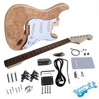 Electric guitar making material accessories tree willow veneer electric guitar eucalyptus body American hard maple neck