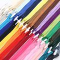 10Pcs/Pack 28cm 35cm 40cm 45cm 50cm 55cm 60cm 3# Invisible Zipper Nylon Coil Zipper For DIY Handcraft Cloth Sewing Accessories