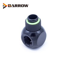 Barrow G1/4 X3 Black Silver Extender Rotation 3-Way Cubic Adaptor Seat Water Cooling Computer Accessories Fitting barrow white black silver g1 4 special edition black hand tighten water stop water cooling fitting tds 01