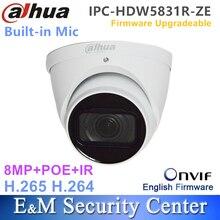 מקורי dahua IPC HDW5831R ZE אנגלית עם לוגו 8MP IR גלגל העין רשת מצלמה POE CCTV מובנה מיקרופון IP67