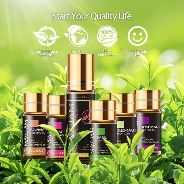 28pcs Pure Natural Essential Oils Gift Set Massage Shower Diffuser Aroma Oil Lavender Vanilla Sage Jasmine Rose Stress Relief 3