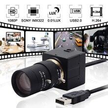 1080p h.264 câmera de baixa luz usb, câmera de webcam industrial, mini usb, android, linux, windows para visão de máquina robótica