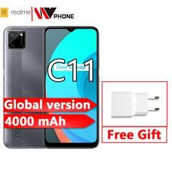 Realme C11 смартфон глобальная версия 2 Гб ОЗУ 32 Гб ПЗУ мобильный телефон 5000 мАч 6,5 дюймов мобильный телефон