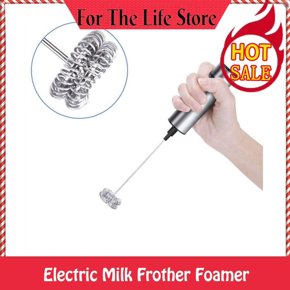 Electric Milk Frother Foamer Blender Hand Whisk Explosion-Type Electric Mixer Coffee Egg Beater Durable Beat Machine