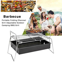 Charcoal Party BBQ Barbecue Tools Metal Kabob Camping Stove Folding Outdoor Picnics Cooking Reusable Portable