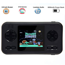 Game Players 8000mah Video Game Retro Handheld 2.8 inch Screen Portable Children Game Players Portable Charger Built-in 416 Game