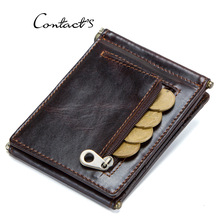 2019 New Vintage Genuine Leather Casual Solid Unisex Card Holder Multi-card Position Wallet Coin Purse