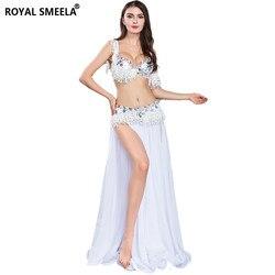 Danse du ventre vêtements ensemble scène Performance danseur porter Bellydance Costume soutien-gorge ceinture brassard jupe Costume de danse pour femme et filles