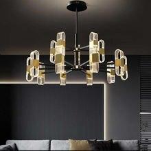 Светодиодная потолочная лампа подвесной светильник черного и