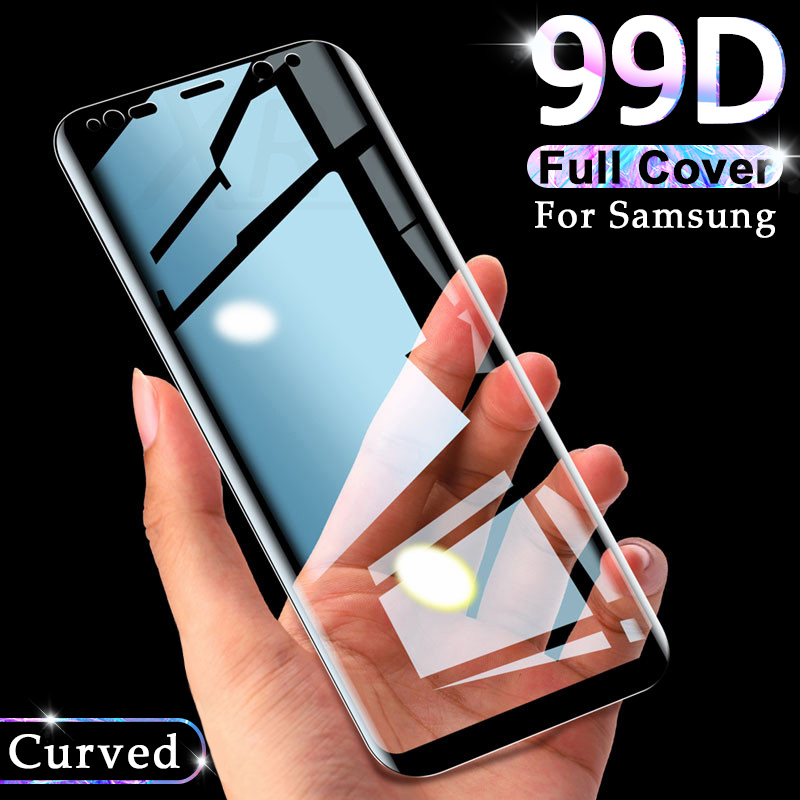 99D Full Curved Tempered Glass On For Samsung Galaxy S9 S8 Plus Note 9 8 Screen Protector On Samsung S7 S6 Edge Protective Film