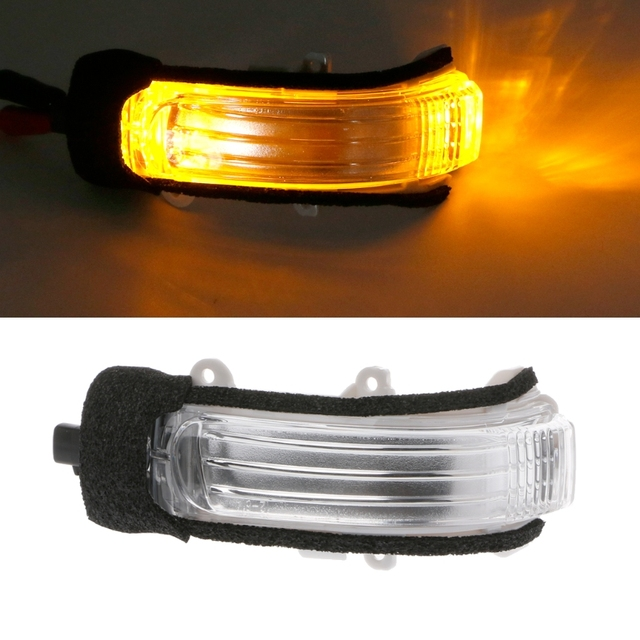 Car Left Is Cab /Right Is Co-pilot Rearview Turn Signal Light For TOYOTA COROLLA AURIS ZELAS REIZ MARK X Yellow Vehicle Bulb