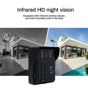 "Image 4 - 7""Video Door Phone Video Doorbell ID Card+Password Access Control Intercom System with Night Vision and Wireless Remote Switch"