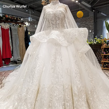 LS65880 off shoulder plus size elegant wedding dresses sweetheart sexy long cape beauty bridal wedding gown with shoulder chain(China)