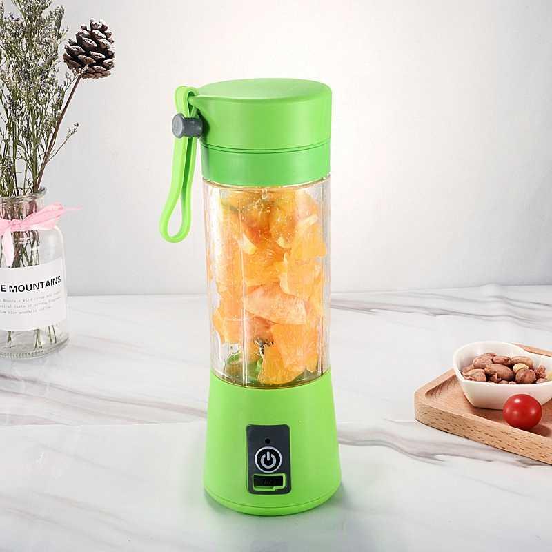 Venda quente 380 ml mini usb recarregável portátil espremedor de frutas elétrico smoothie maker liquidificador máquina esportes garrafa 4 lâminas afiadas