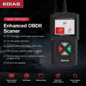 Image 5 - EDIAG YA201 OBD2 code reader OBD 2 YA201 auto Reader Upgrade Über USB FREIES Lebensdauer OBDII Auto Diagnose Werkzeug PK CR3001 AL319