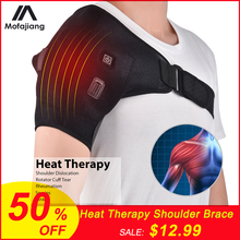 Electric Heat Therapy Shoulder Brace Orthopedic Care Belt Pain Relief Back