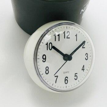 Mini Sucker Wall Clock Bathroom Anti-Fog Waterproof 7cm Kitchen Toilet Small Quartz Table Clock