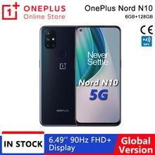 OnePlus Nord N10, Versión global, 6GB RAM 128GB ROM Snapdragon 690 5G Teléfono móvil, 6.49'' 90Hz FHD+ Pantalla, 64MP Quad Cámaras, Warp Charge 30T NFC