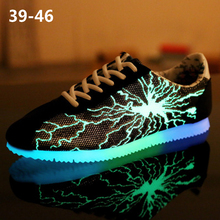 2019 Fashion Sneakers; Outdoor Mens Casual Shoes; Couple Non-slip Wear-resistant Lightning Tennis Fluorescent Shoes