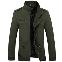 Men Jacket Military Cotton Coat Soldier Style Army Jackets Mens Pilot Air Force Casual Windbreaker Bomber