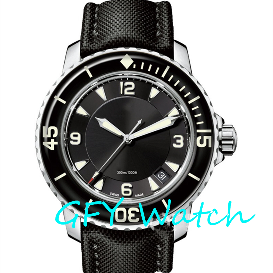 Fashion Men's Automatic Mechanical Watch 5015 Series SS 1: 1 Black Dial Stainless Steel Strap MIYOTA Movement Business Watch