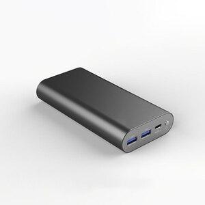 Riy grafeno bateria portátil portátil portátil 20000 mah 2 horas totalmente carregada com 60 w adaptador carregador tipo c qc 3.0 pd 18 w