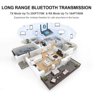 Image 5 - Transmisor receptor de Audio Bluetooth de largo alcance, 70M, para TV con antena Aptx HD, adaptador inalámbrico Spdif Optica AUX de baja latencia