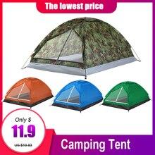 Tomshoo 2 pessoas barraca de acampamento à prova dwaterproof água pu1000mm poliéster tecido única camada tenda para viagens ao ar livre caminhadas