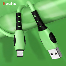 Cable de carga de silicona líquida para teléfono móvil, Cable de datos Micro USB para Android, Xiaomi, Huawei P40, P30, P20, carga rápida, sincronización de datos