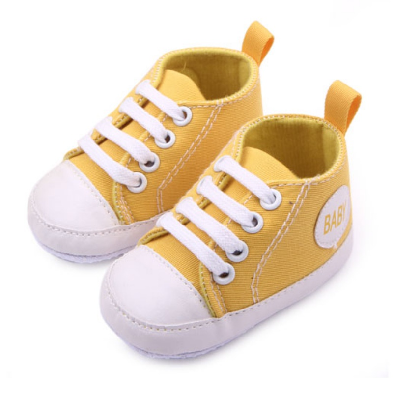 0-12 Months Newborn Baby Boy Girl Shoes Letters Printed Fashion Soft Sole Shos Sneaker Newborn First Walkers