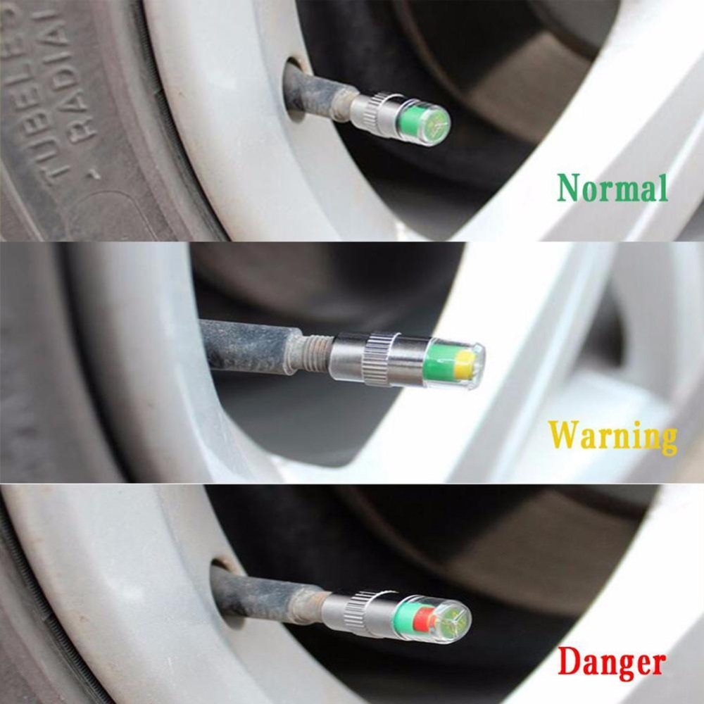 1PCS Car Auto Valve Caps Indicator Diagnostic Tools Kit Tire Pressure Monitor Tire Gage Alert Sensor Indicator