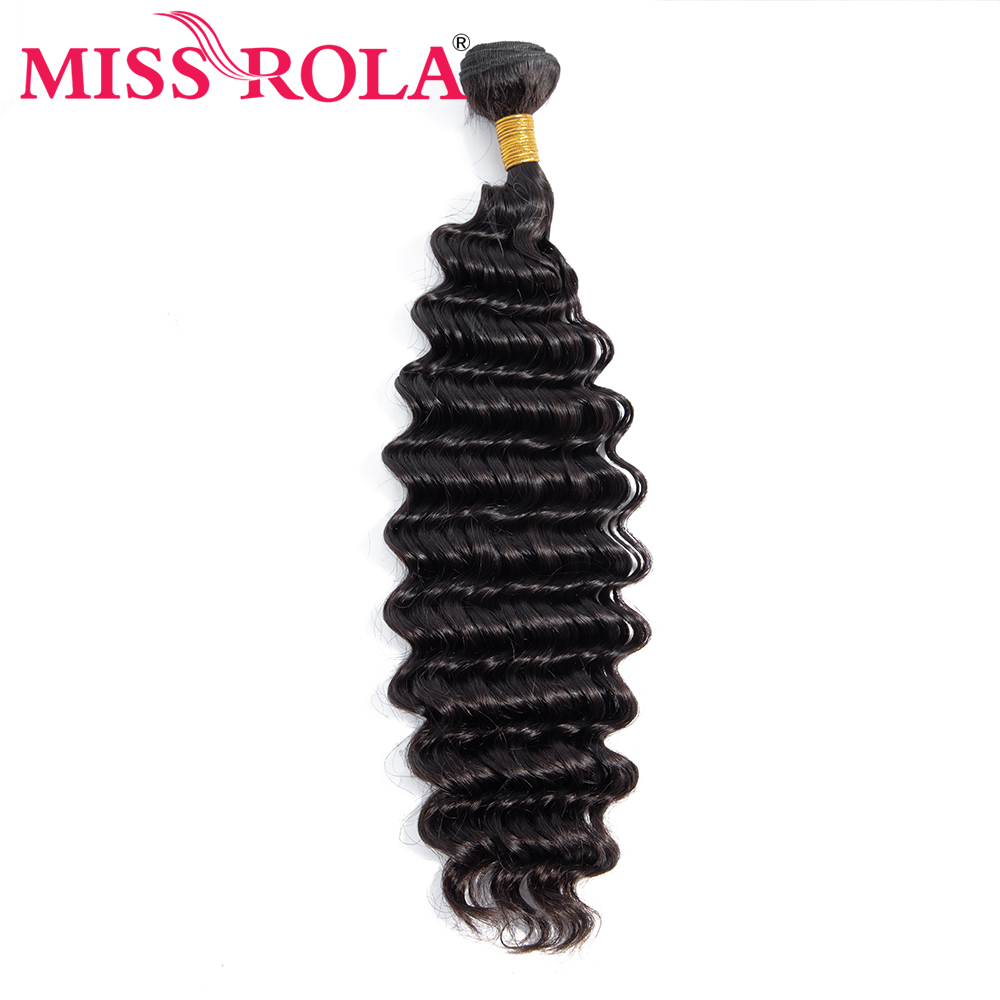 Miss Rola Deep Wave Bundles Brazilian Hair 100% Human Hair Weave Natural Color Remy Hair Extension 8-28 Inch